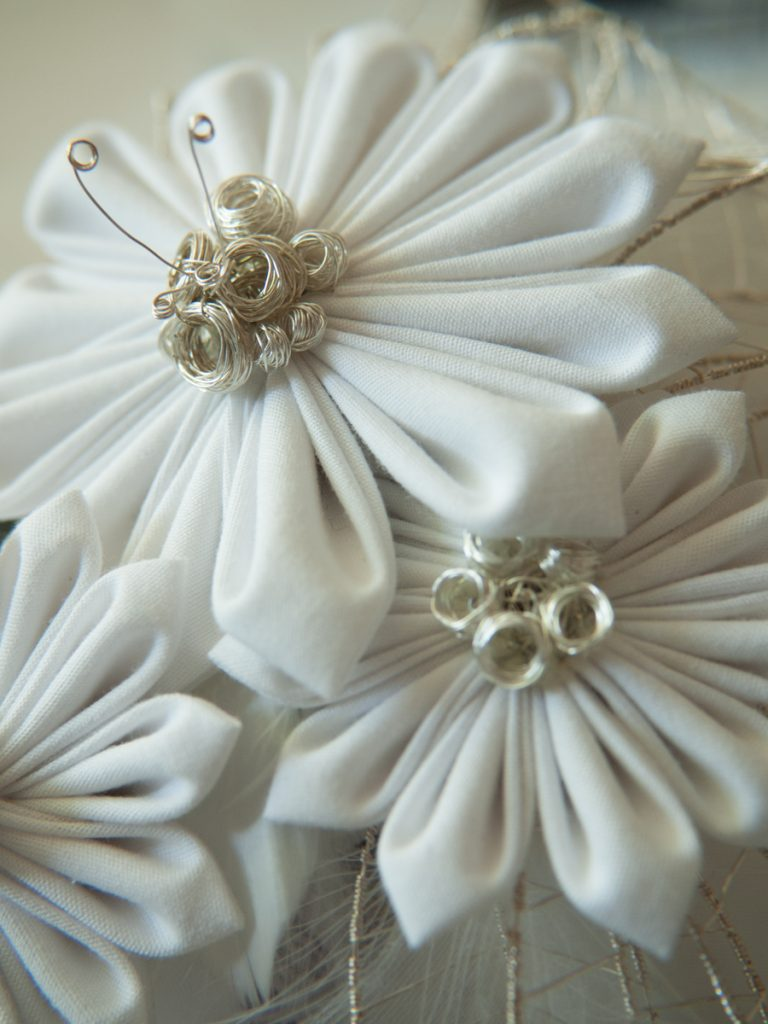 Kreation von Faunauge Japasnische Stoffblüten Kanzashi