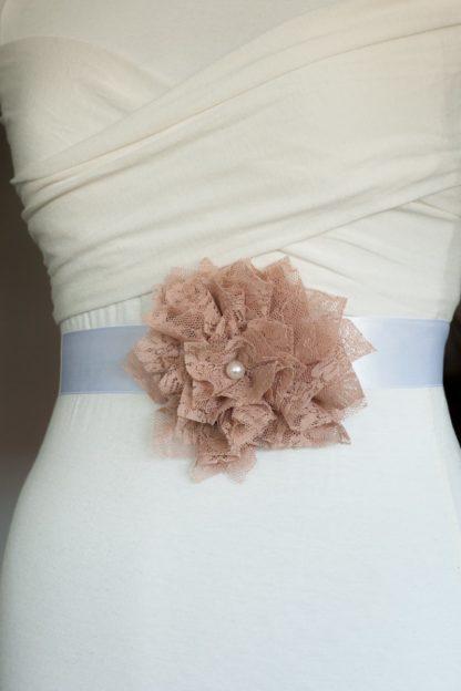 Brautgürtel rosa Faunauge