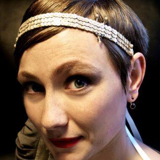 Goldenes Haarband im Twenties-Style von Faunauge