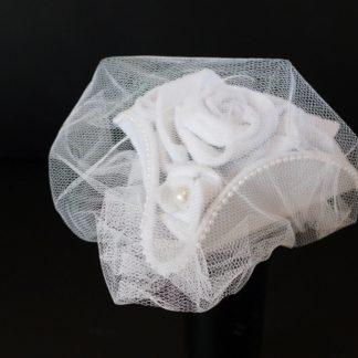 Brauthut Minidreispitz weiß