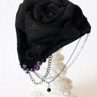 Kleines Hütchen Violette Rose