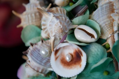 Muscheln Detail Brautstrauß
