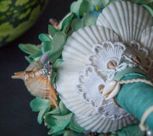 Strandhochzeit Bouquet Muscheln