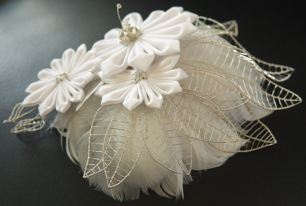 Bridal Fascinator with Silverwire