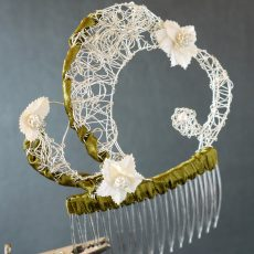 Silverwire Haircomb Floral #4