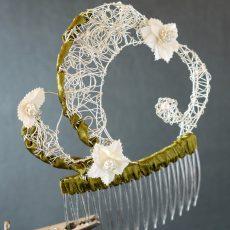Silberhaarkamm Floral #4