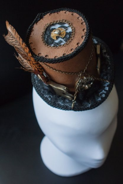 Steampunk mini top hat by Faunauge