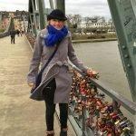 Auf dieser Frankfurter Brücke was es richtig kalt