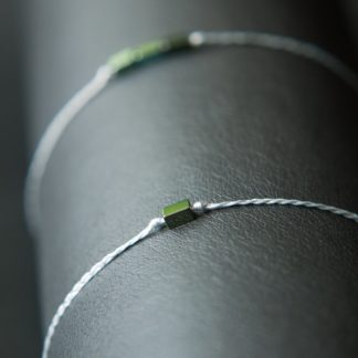 Armband Flechtband Hämatiti grün und grau