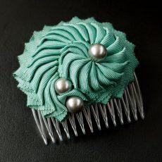 Hair comb Nautilus Turquoise