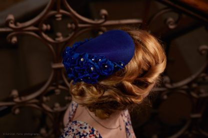 Blue fascinator blue wedding
