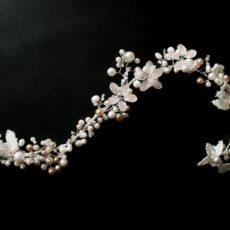 Haarband <em>White Boho</em> Rebe für Brautfrisur
