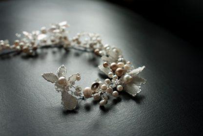 """Haarband """"White Boho"""" Rebe Hochzeit"""