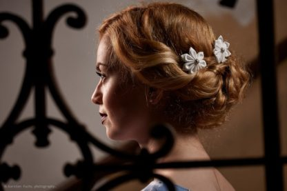 Hairpins Flowers white Wedding by Faunauge