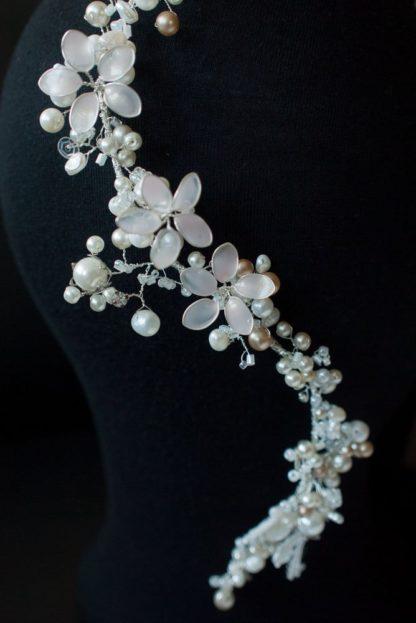 "Blumen Haarband ""White Boho"" Braut"