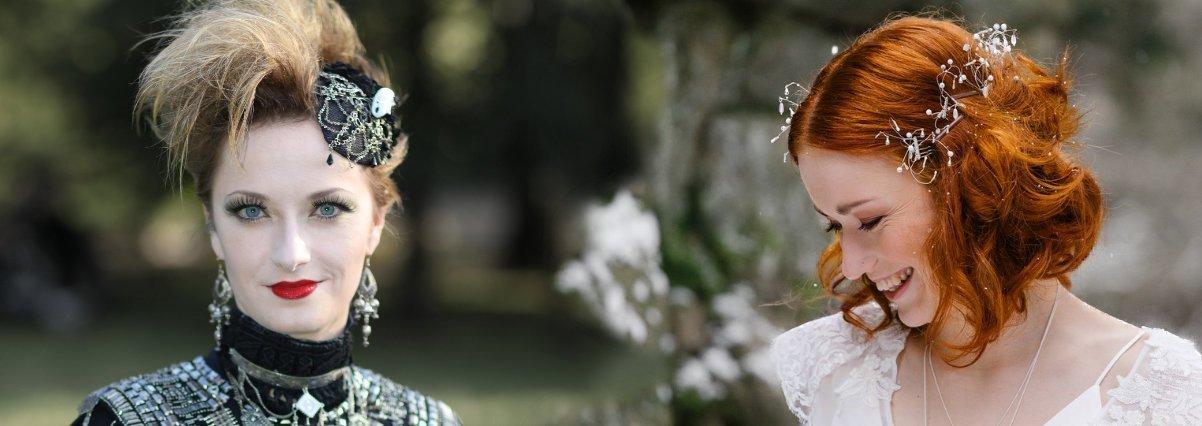 Wedding oder Gothic? Faunauge hat den passenden Haarschmuck für deinen Style! Fotos von René Hänsel und Johannes Amm.