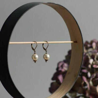 Ivory Perlenohrringe Hochzeit