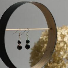 Schwarze Perlenohrringe
