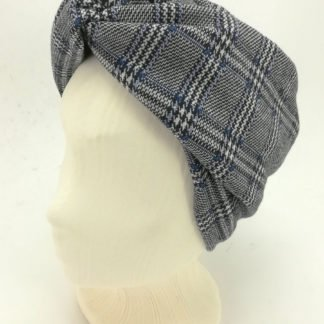 Headband houndstooth blue