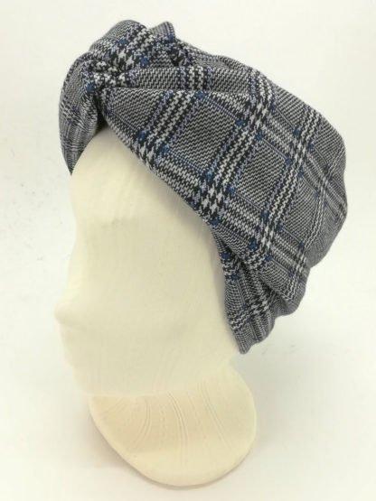 Haarband Hahnentritt Blau