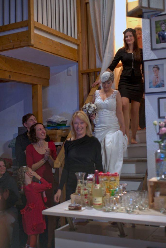 Models auf der Treppe bei Faunauge