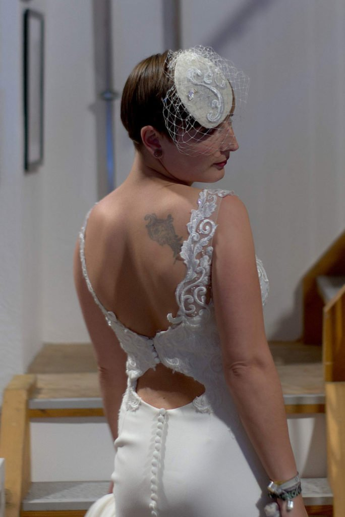 Model im Brautkleid Real Bride