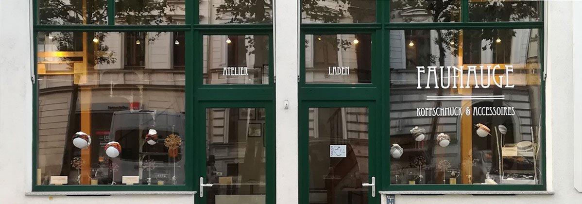 Schaufenster Ladenatelier Faunauge