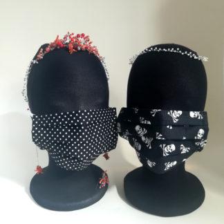 2 Masken schwarz Damengröße