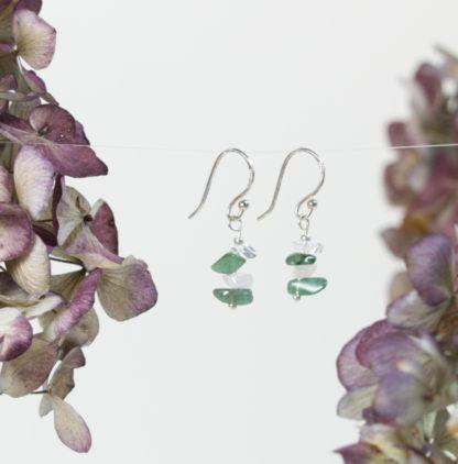 Ohrringe Silber Quarz Jade