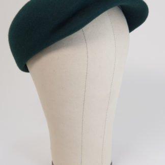 Kappe für Herren aus Filz in Dunkelgrün