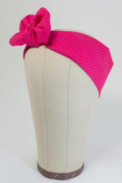 Haarband pink mit Polka Dots
