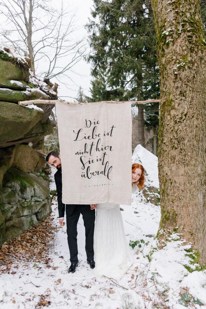 Motto Banner Hochzeit Backdrop