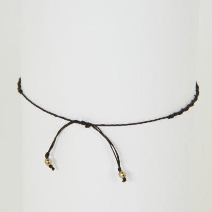 Yoga Armband mit Perlen aus Rauchquarz Verschluss