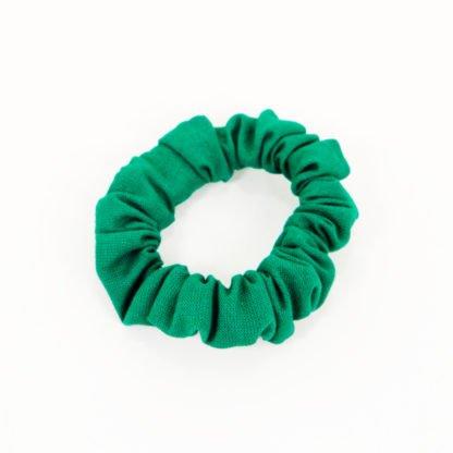 Grüner Scrunchy aus Baumwolle