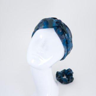 Stirnband Lisa in graublaugrünem Camouflagelook