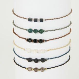 Armbänder mit Heilsteinen Perlen Yoga