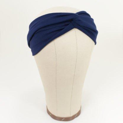 Stirnband aus Bambusjersey in Marine