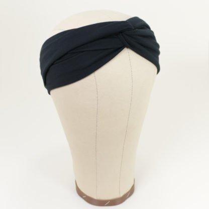 Stirnband aus Bambusjersey in Schwarz