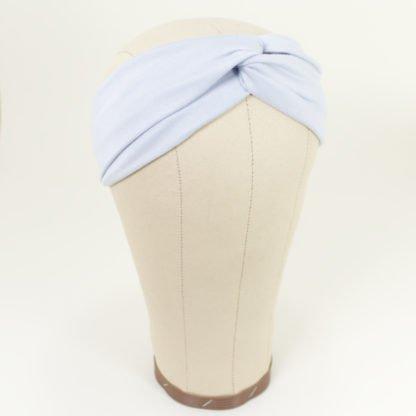 Stirnband aus Bambusjersey in Silbergrau