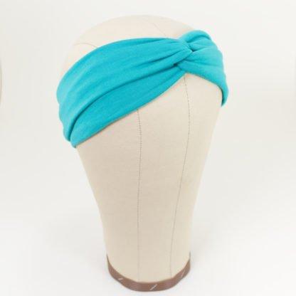 Stirnband aus Bambusjersey in Türkis